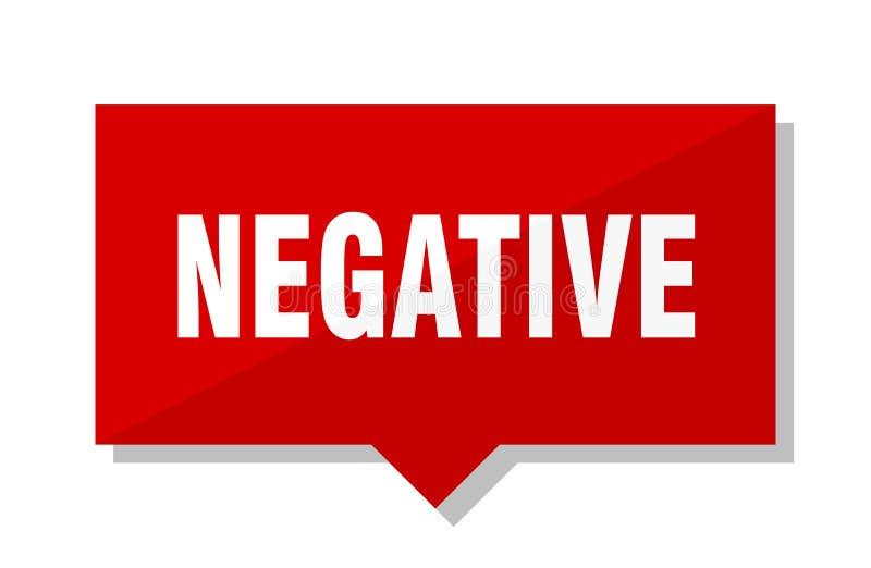Etiqueta roja negativa stock de ilustración