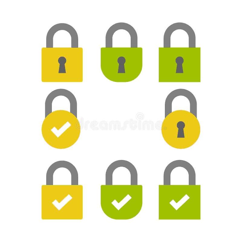 Etiqueta segura /button /bar de la encripción del SSL libre illustration