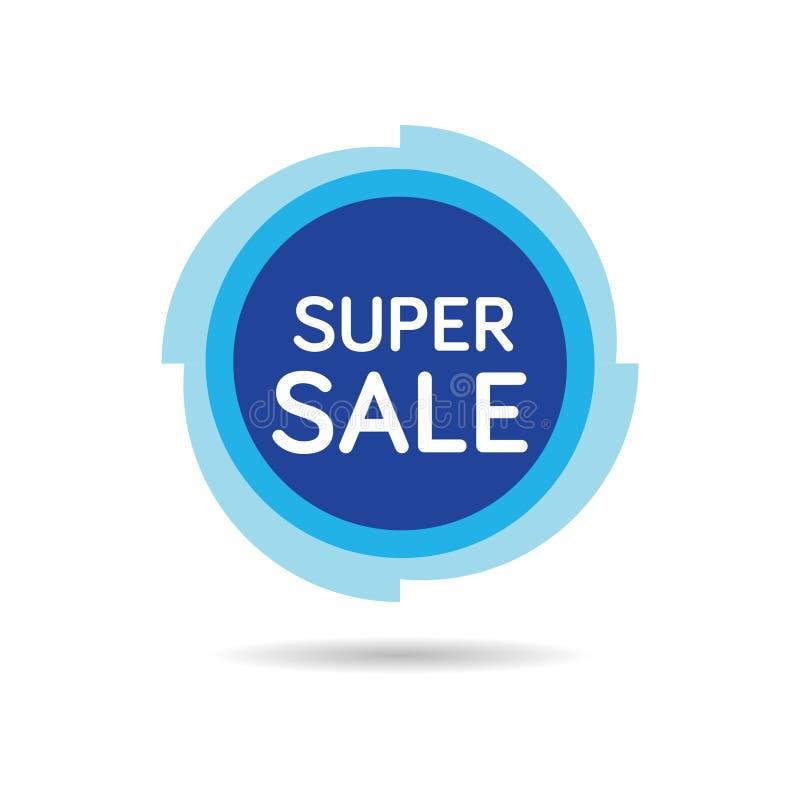Etiqueta super da venda Ilustração isolada do vetor da venda etiqueta vermelha A etiqueta de preço super da oferta da venda, Vect ilustração stock