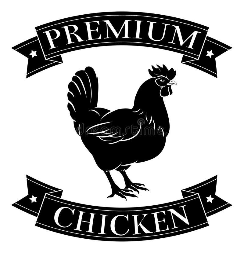 Etiqueta superior da galinha ilustração royalty free
