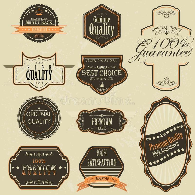 Etiqueta superior da qualidade do vintage ilustração do vetor