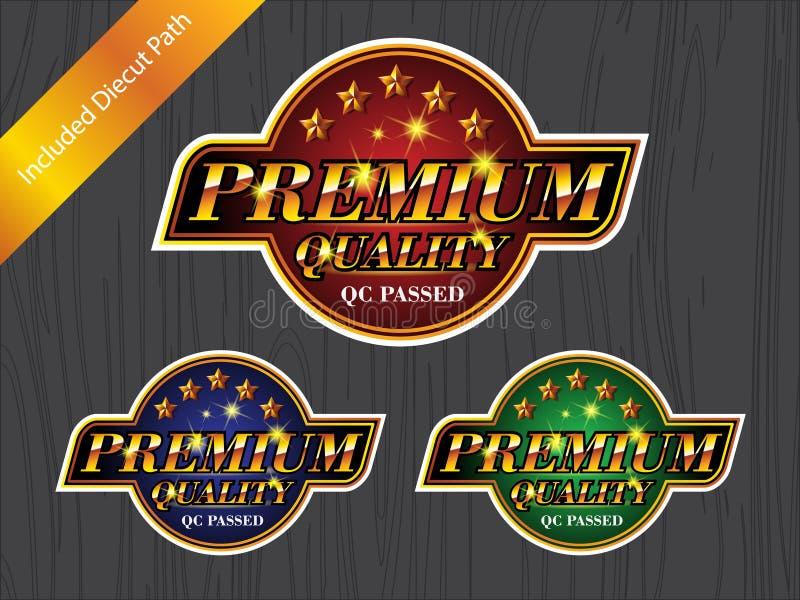 Etiqueta SUPERIOR do logotipo da etiqueta do crachá da QUALIDADE ilustração royalty free