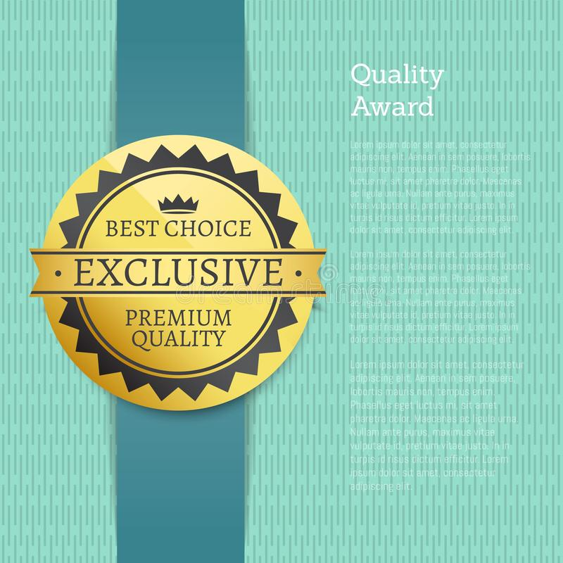 Etiqueta superior exclusiva de la mejor opción del premio de la calidad libre illustration