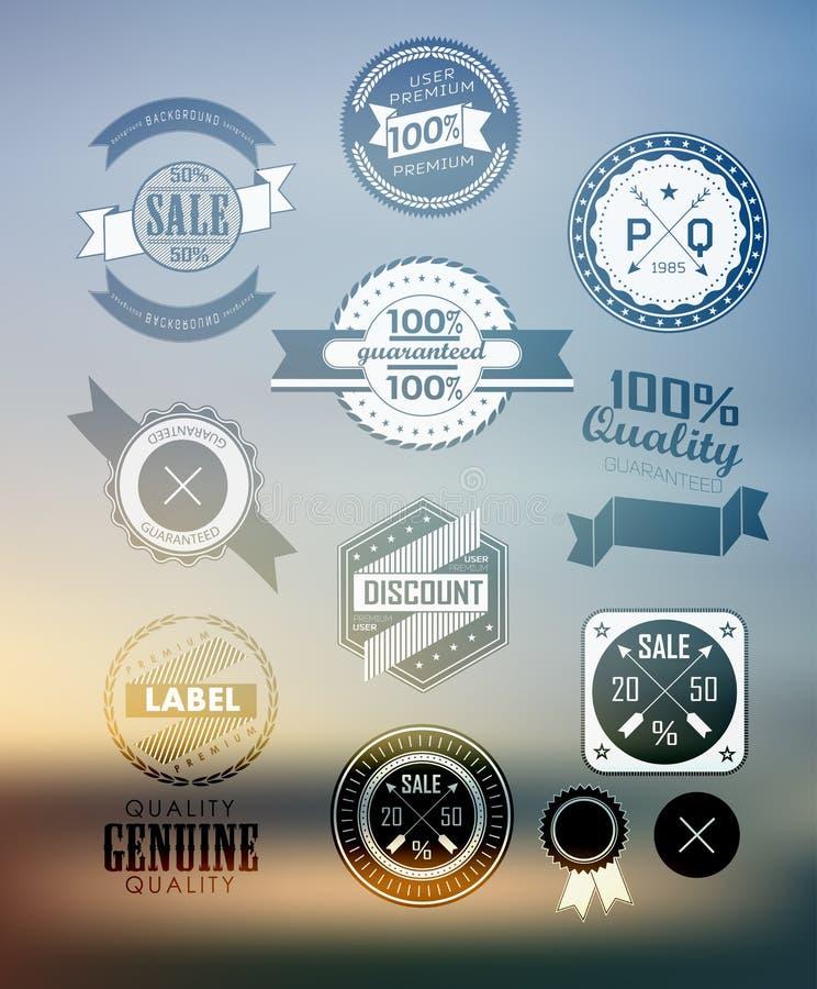 Etiqueta superior y de alta calidad, icono libre illustration