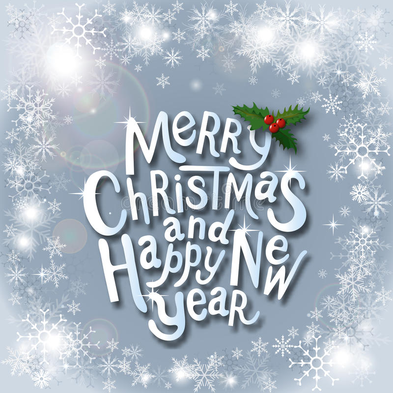 Etiqueta tipográfica do Natal por desig dos feriados do Xmas e do ano novo fotos de stock royalty free