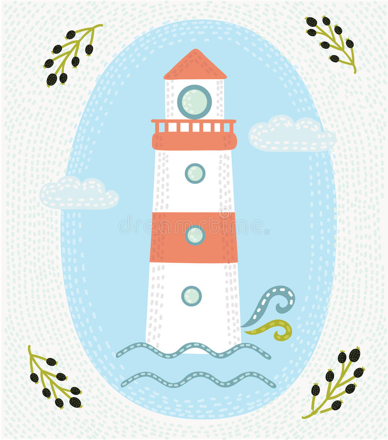 Etiqueta tirada mão do vintage com uma casa clara e uma rotulação Para o projeto da forma da camisa do fato t e ou o outro usos ilustração do vetor