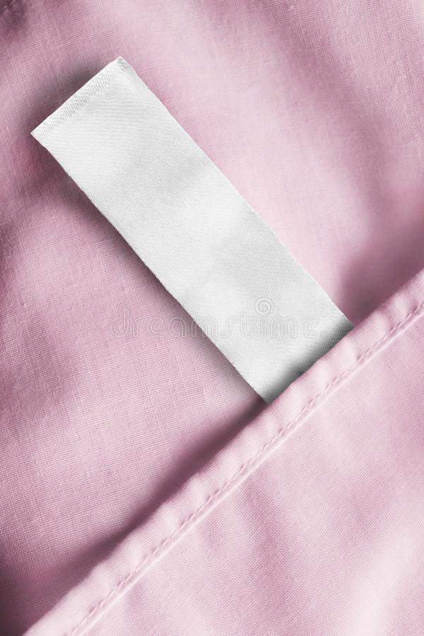 Etiqueta vazia da roupa imagens de stock royalty free