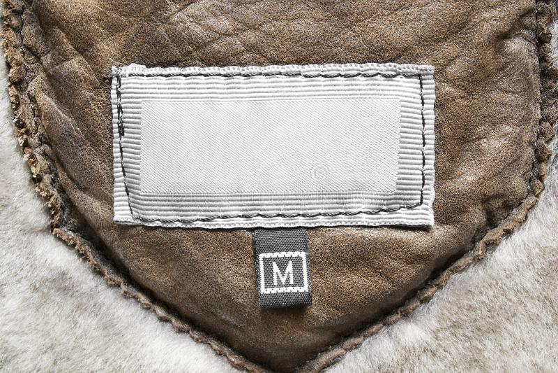 Etiqueta vazia da roupa foto de stock royalty free
