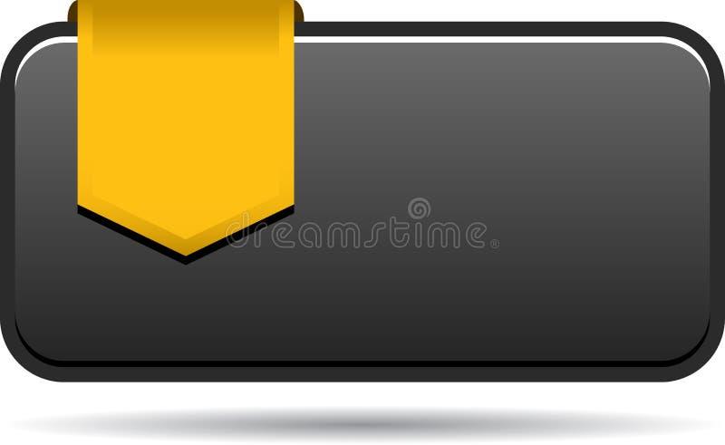 Etiqueta vazia das vendas com fita ilustração do vetor