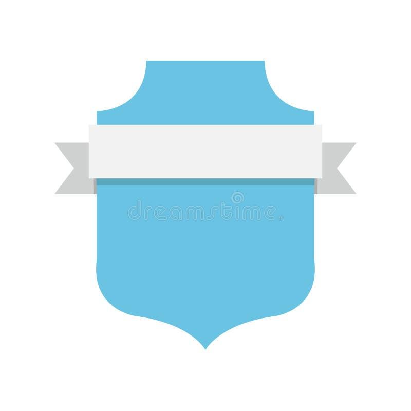 Etiqueta vazia do emblema ilustração royalty free
