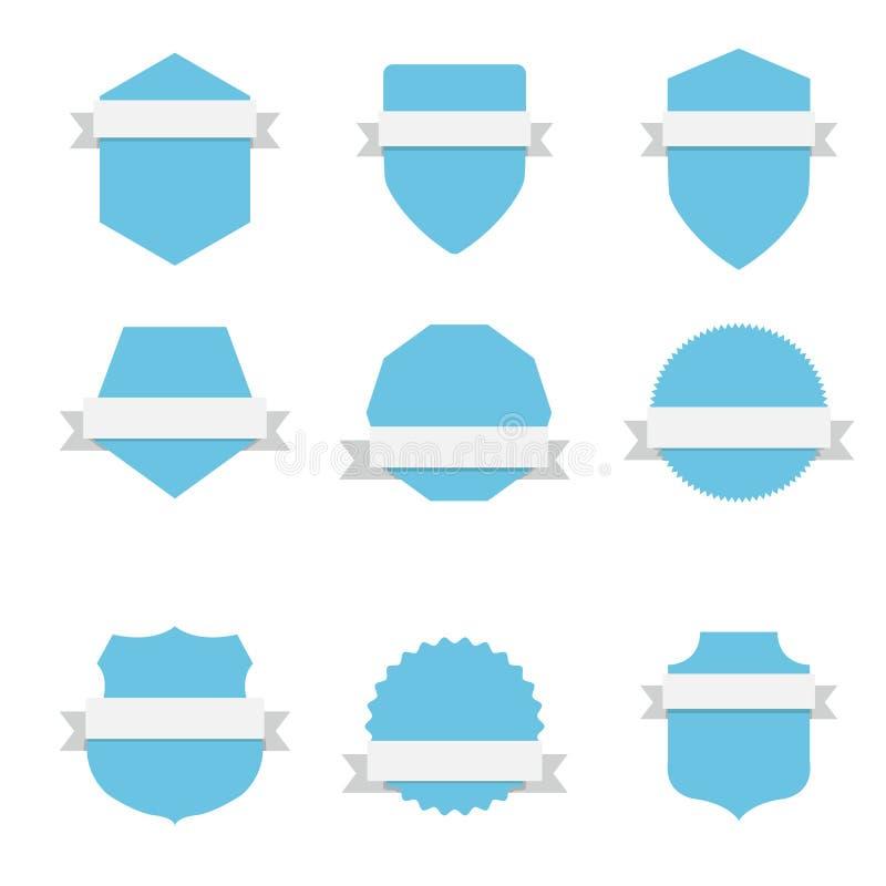Etiqueta vazia do emblema ilustração do vetor