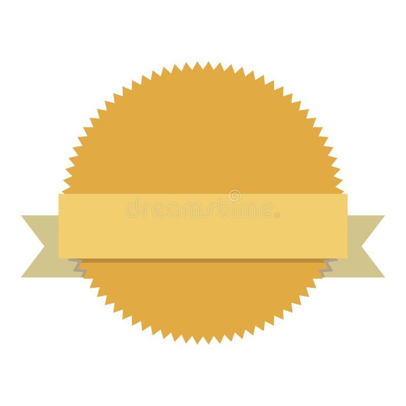 Etiqueta vazia do emblema ilustração stock