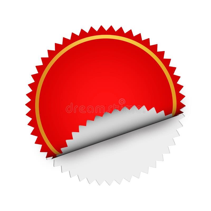 etiqueta vermelha ilustração do vetor