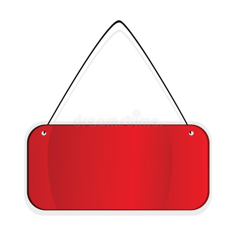 Etiqueta vermelha sobre o fundo branco ilustração royalty free