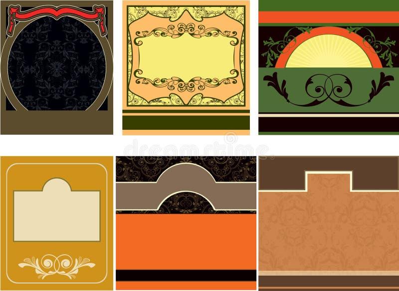 Etiquetas ilustração stock