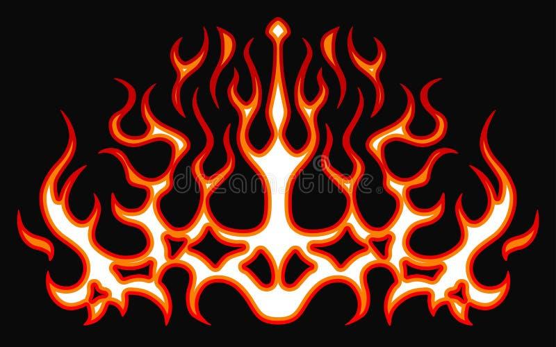 Etiquetas ardientes del fuego para la capilla del coche Rod caliente que compite con las llamas Llamas tribales listas del vinilo libre illustration