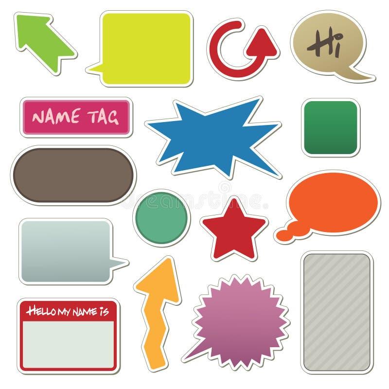 Etiquetas autoadhesivas stock de ilustración