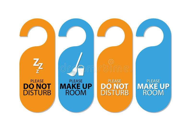 Etiquetas azules y anaranjadas de la puerta libre illustration