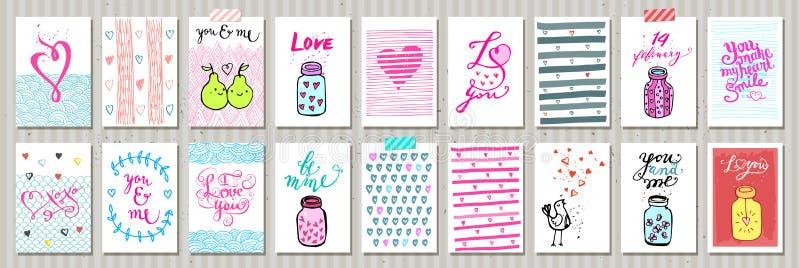 Etiquetas bonitos do presente Amor ilustração stock