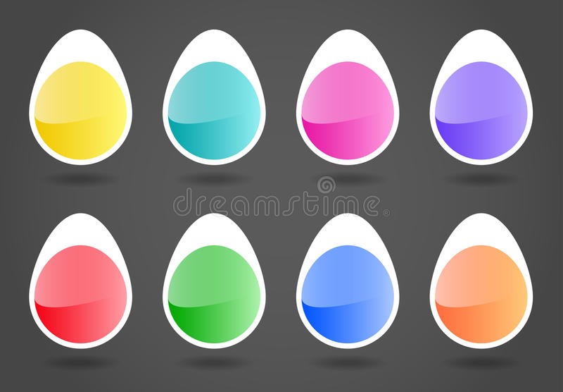 Etiquetas de Pascua ilustración del vector