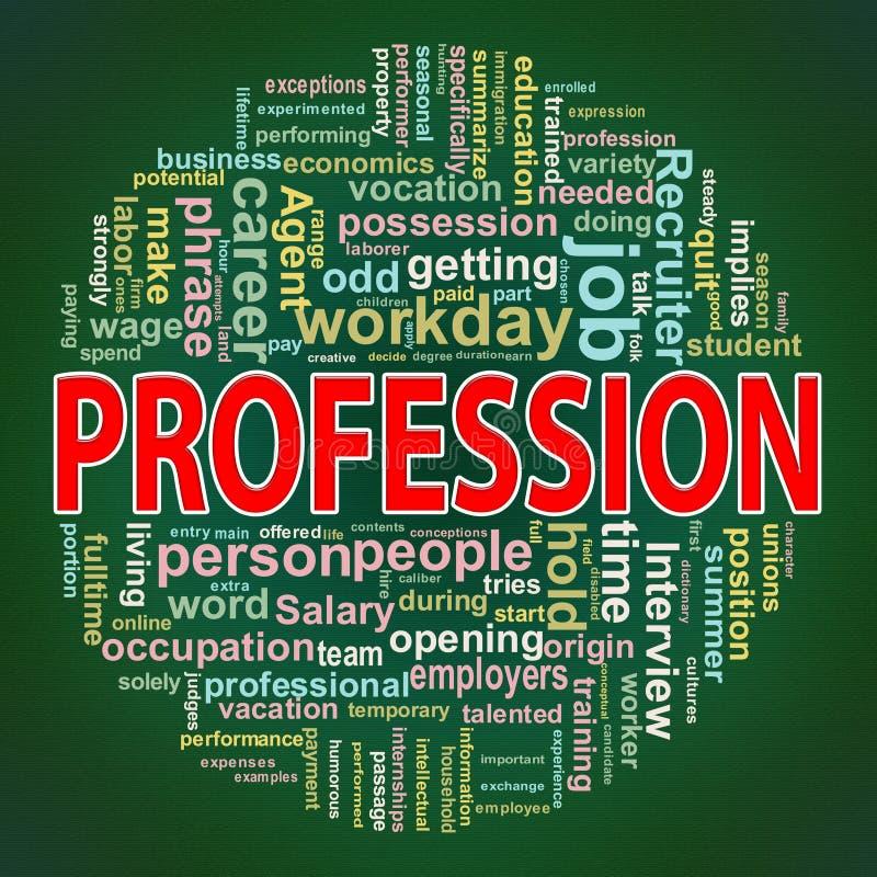 Etiquetas circulares da palavra da profissão do projeto ilustração do vetor