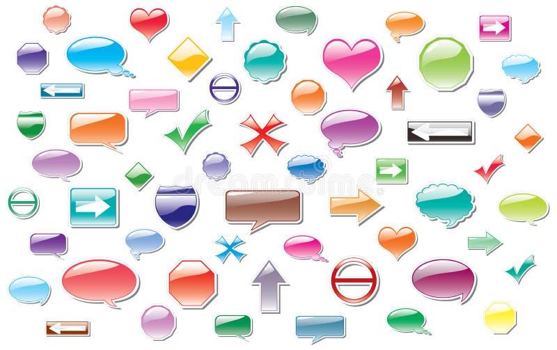 Etiquetas coloridas do vetor ilustração do vetor