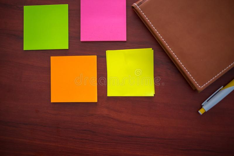 Etiquetas coloridas, fotografia de stock