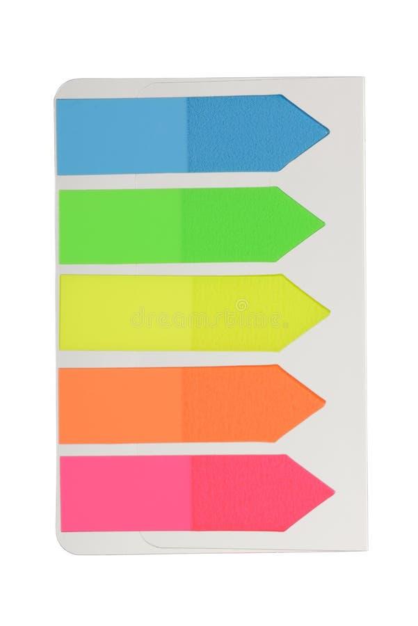 Etiquetas coloridos imagem de stock