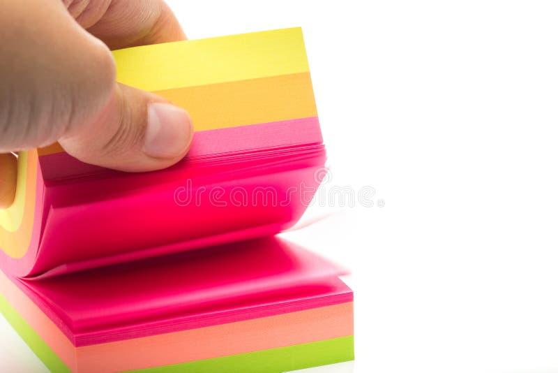 etiquetas Etiquetas coloridos em um branco imagem de stock royalty free