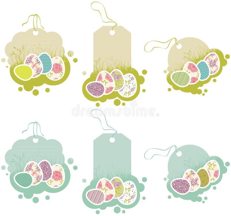 Etiquetas con los huevos de Pascua libre illustration