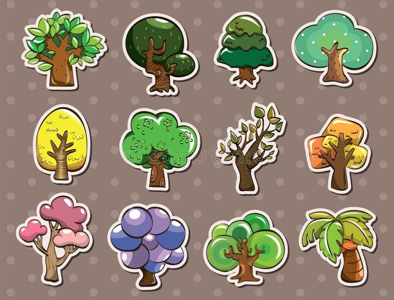 Etiquetas da árvore ilustração do vetor