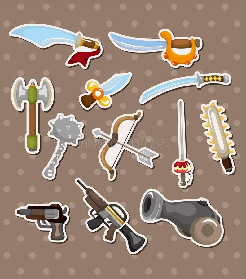 Etiquetas da arma ilustração royalty free