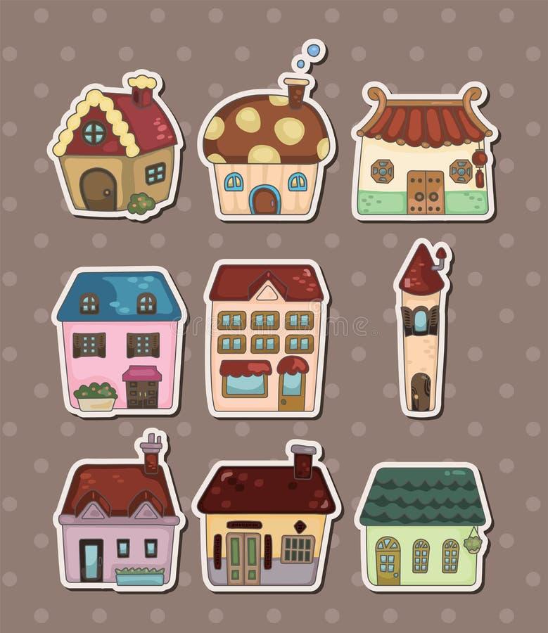 Etiquetas da casa ilustração royalty free