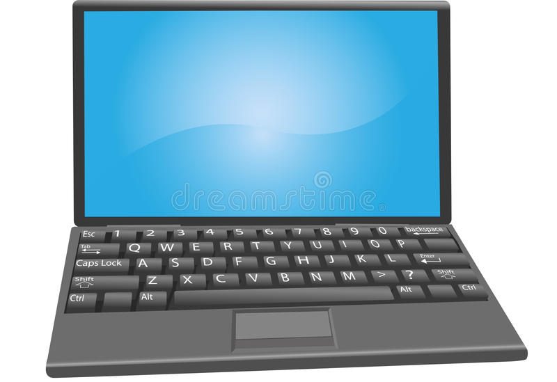 Etiquetas da chave de teclado do computador portátil do PC do portátil ilustração royalty free
