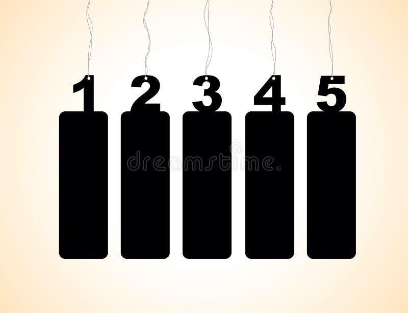 Etiquetas da etiqueta do número ilustração stock