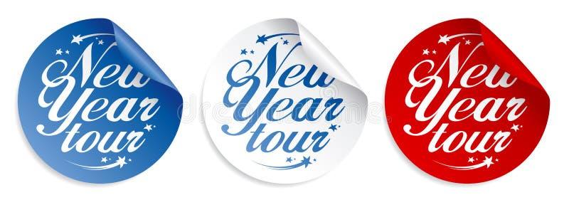 Etiquetas da excursão do ano novo. ilustração royalty free