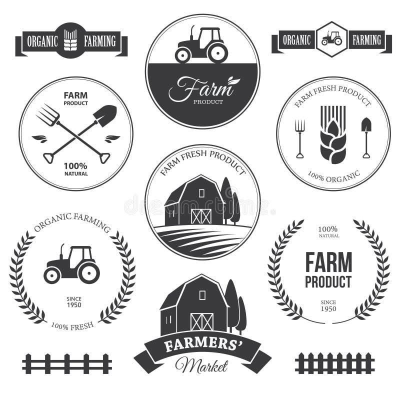 Etiquetas 2 da exploração agrícola ilustração do vetor
