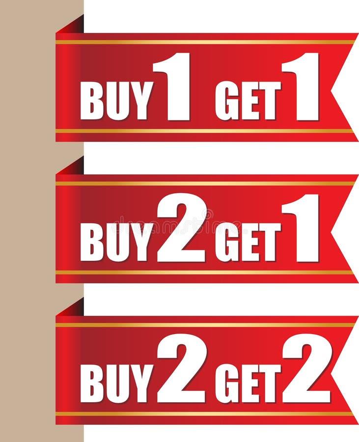Etiquetas da oferta ilustração royalty free