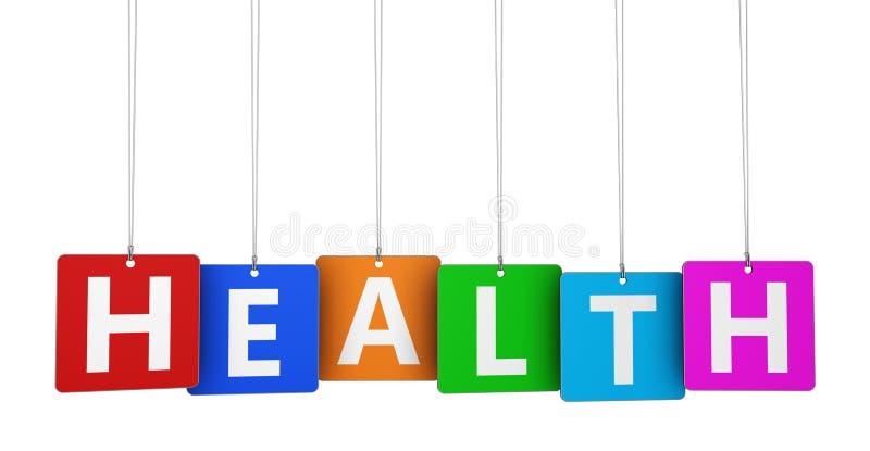 Etiquetas da saúde ilustração stock