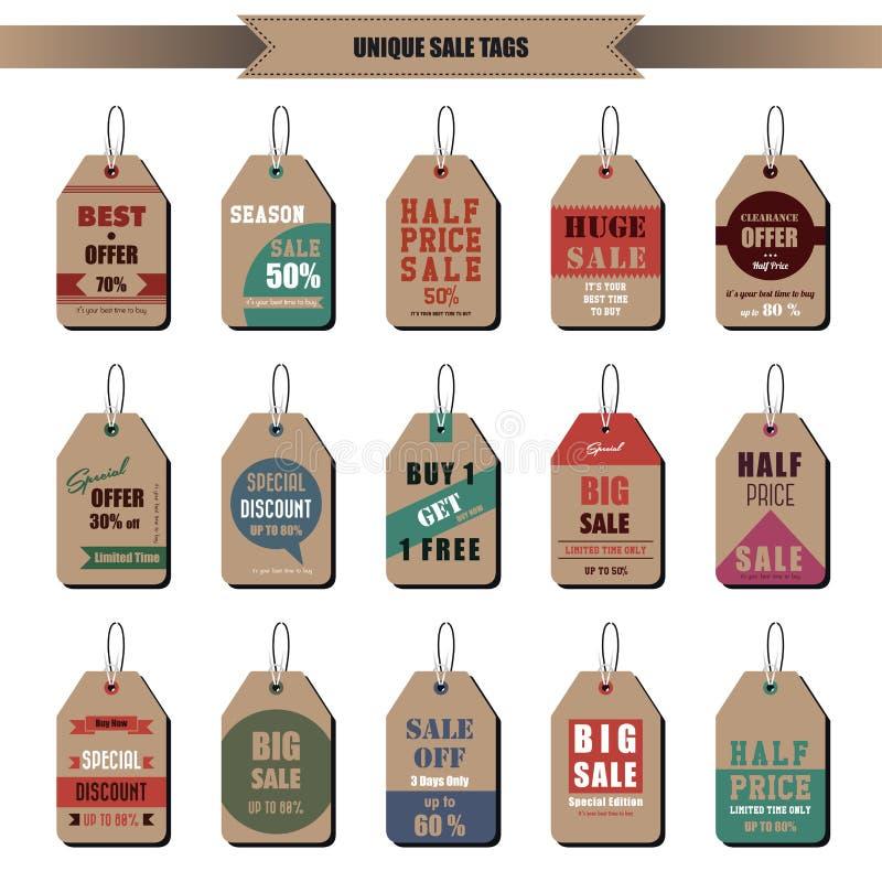 Etiquetas da venda ilustração stock