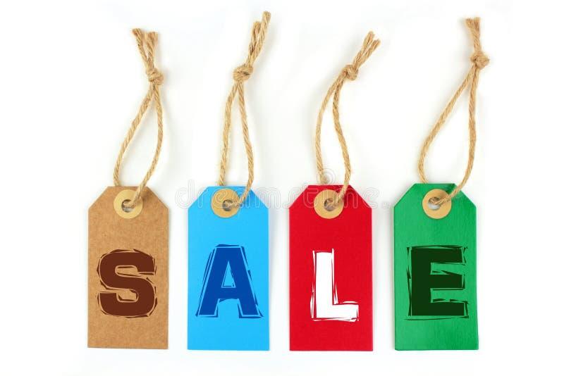 Etiquetas da venda das cores imagens de stock royalty free