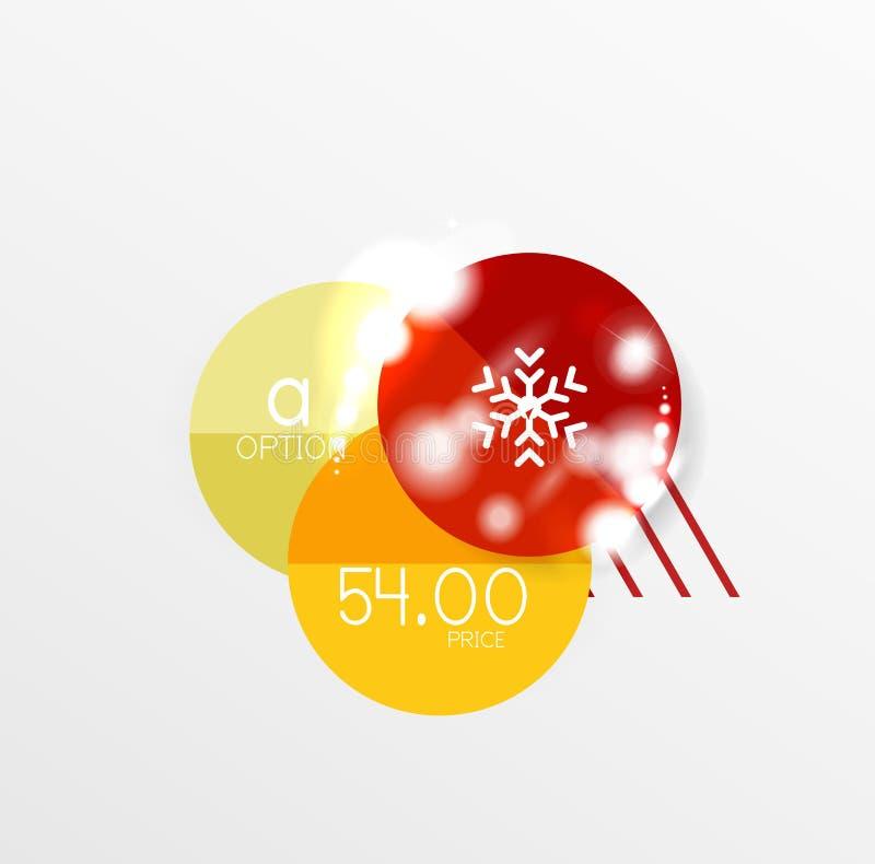 Etiquetas da venda do Natal ilustração royalty free