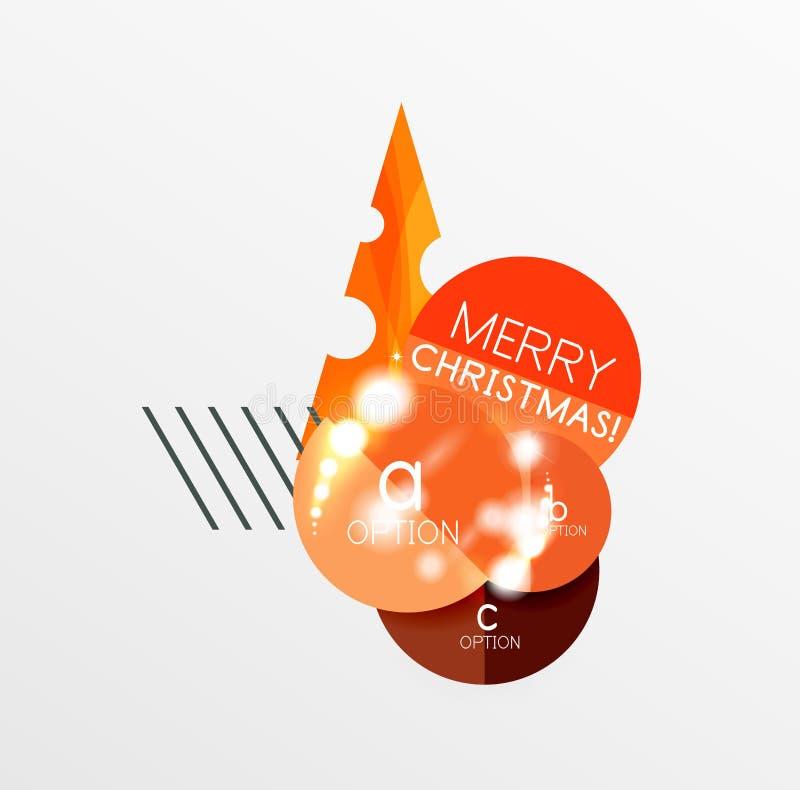 Etiquetas da venda do Natal ilustração do vetor