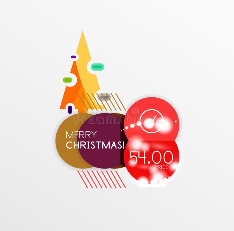 Etiquetas da venda do Natal ilustração stock