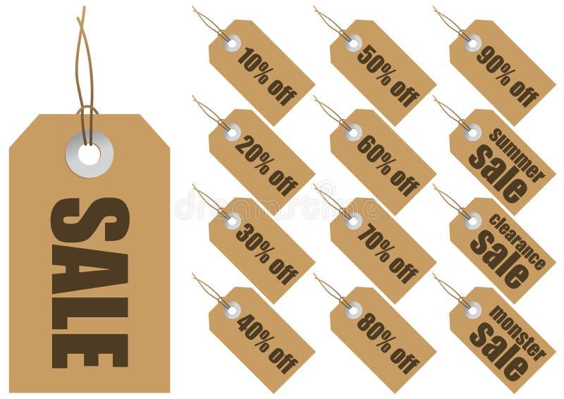 Etiquetas da venda do vetor ilustração do vetor