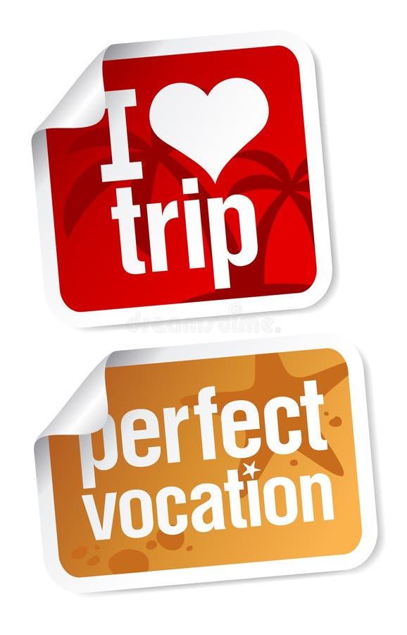 Etiquetas das férias ajustadas ilustração do vetor