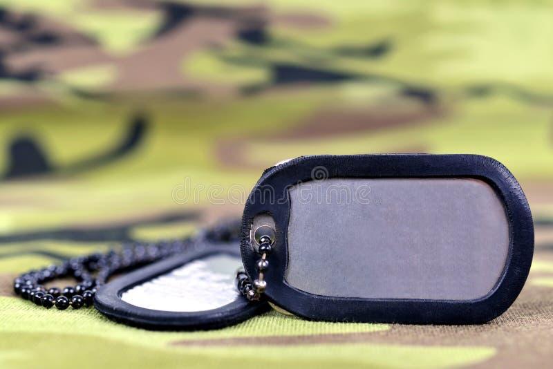 Etiquetas de cão militares foto de stock royalty free
