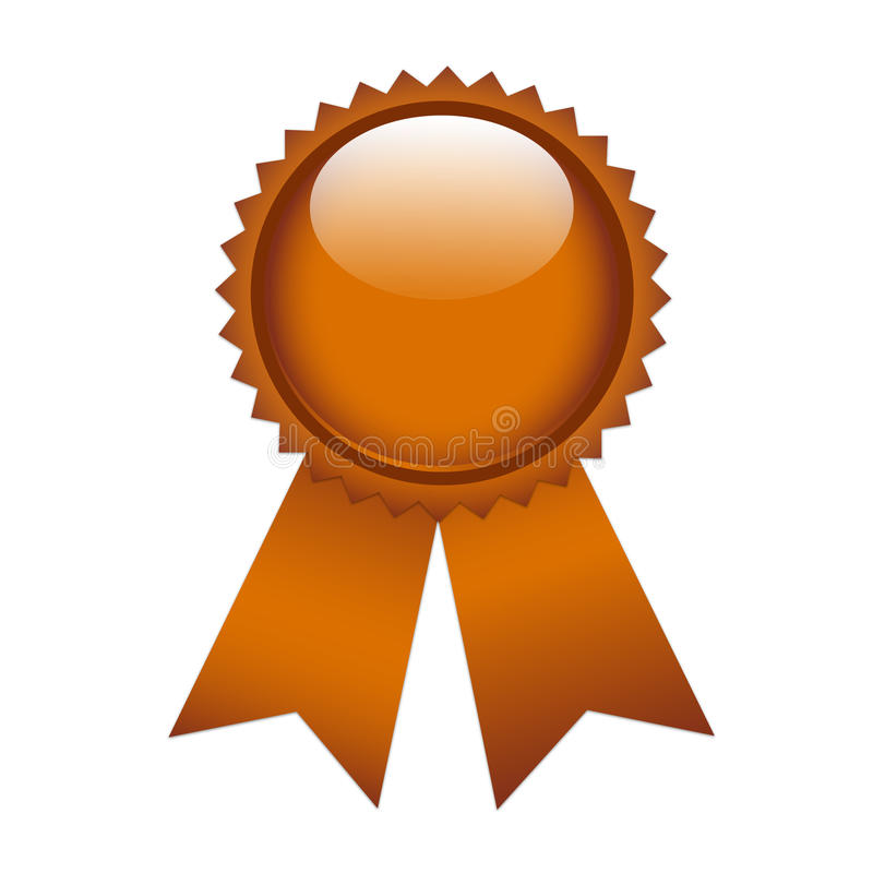 Etiquetas de cobre do prêmio da fita ilustração royalty free