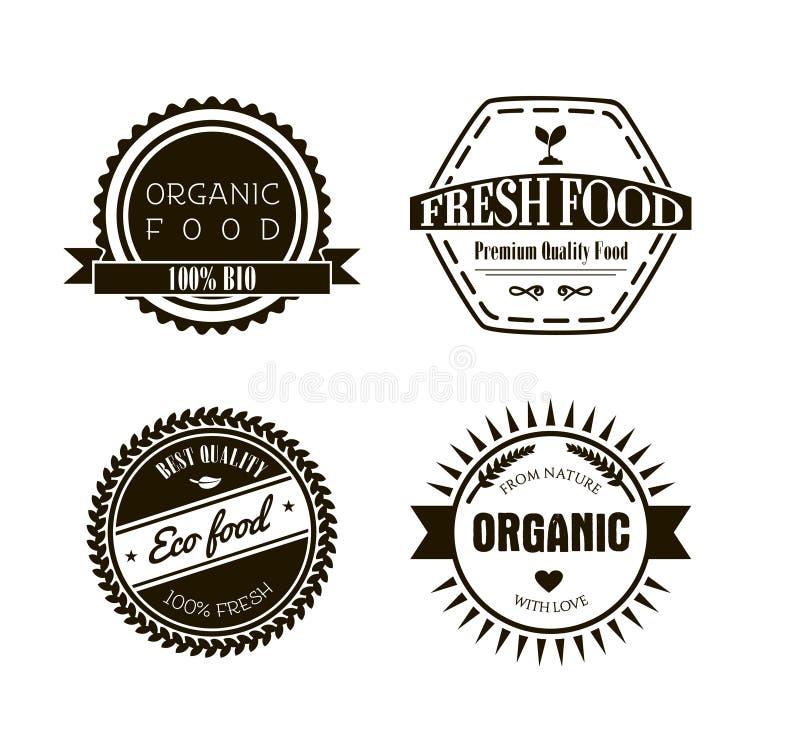Etiquetas de Eco no estilo retro do vintage, ilustração do vetor ilustração royalty free