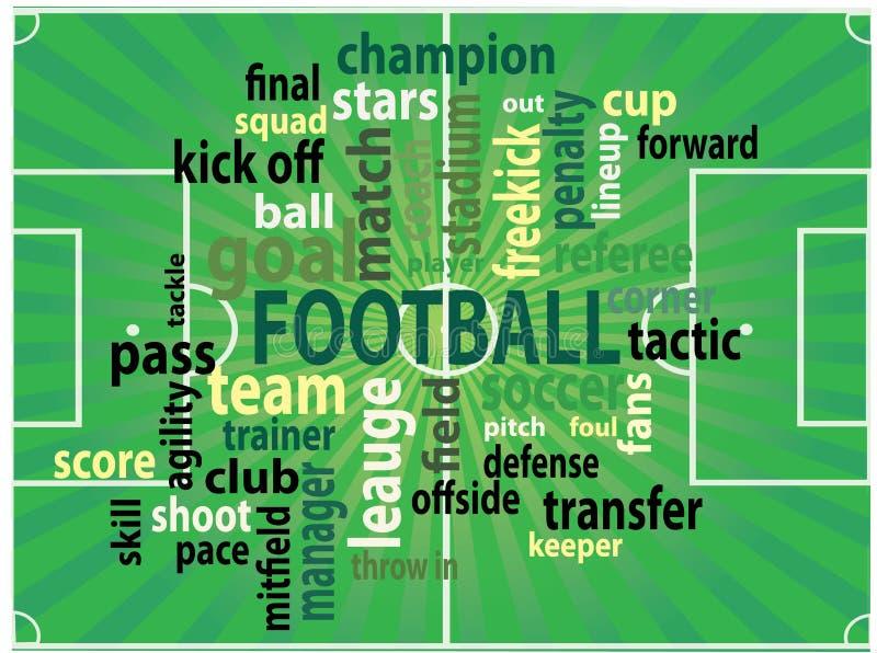 Etiquetas de Footbal ilustração royalty free